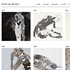 sarah van der pols website screenshot